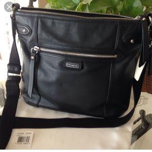 Coach Leather Daisy File Crossbody Bag